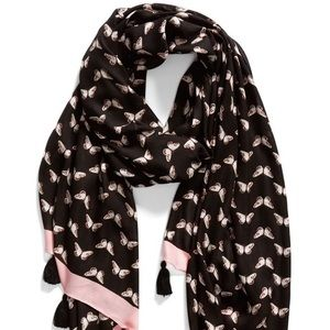 🆕Kate Spade Butterfly Oblong Scarf NWT